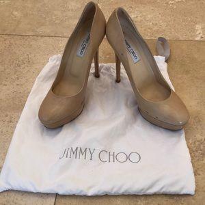Jimmy Choo Cosmic Nude Platform Pumps